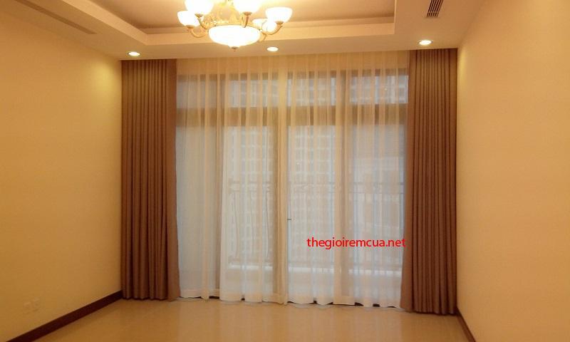 May rèm cửa sổ bằng vải đơn màu cao cấp