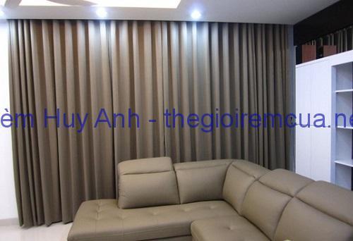 Rèm vải gấm cao cấp phòng khách TM22-04