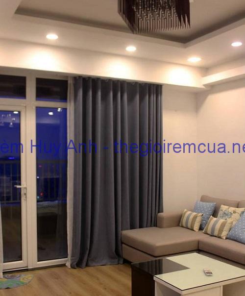 Rèm vải phòng khách một màu MH9