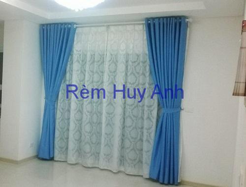 Rèm cửa 2 lớp vải một màu chống sáng TM22-07