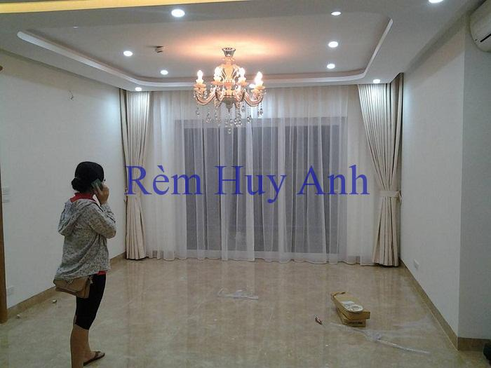 Rèm vải 2 lớp cản nắng đơn màu vải trơn 22-20