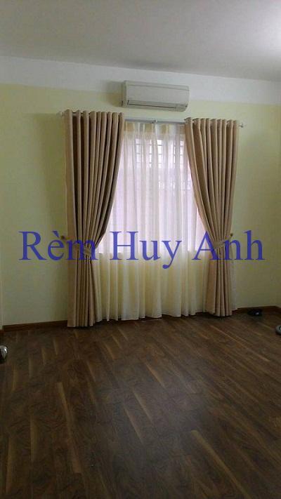 Rèm vải phòng khách 2 lớp đơn màu TM23-7