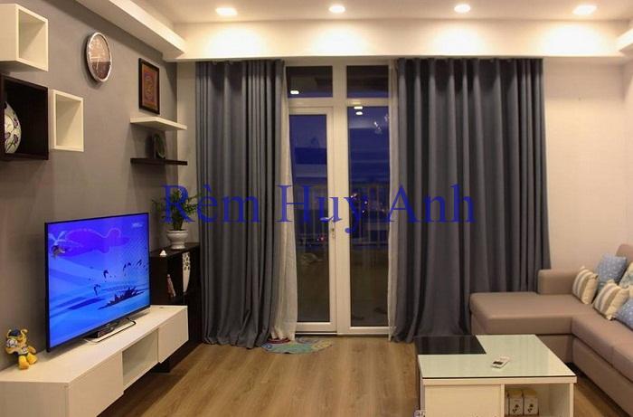 Rèm phòng khách vải một màu TM22LK