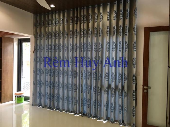 Rèm vải hoa văn hàn quốc cao cấp TM3505