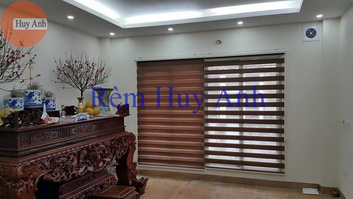 Rèm cuốn cầu vồng Wood Look Winlux lắp tại HH2B Linh đàm – Hoàng mai